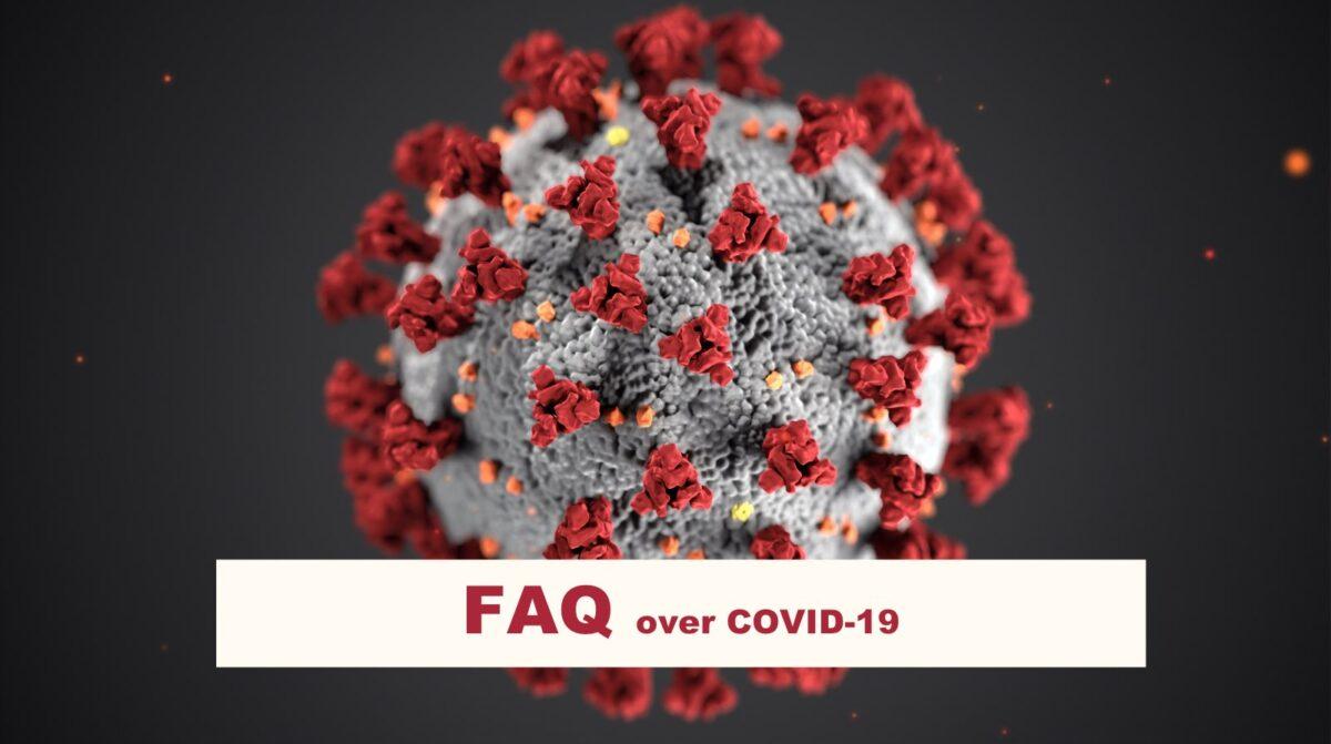 Covid-19 afbeelding met uitleg FAQ